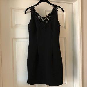 Black Dress with Crochet Detail